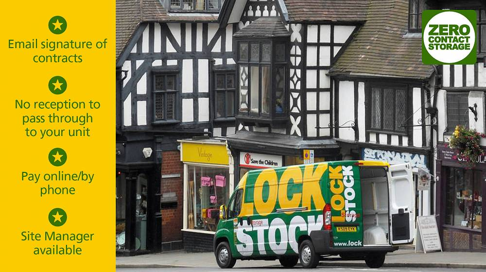 Shrewsbury Lock Stock zero contact self storage